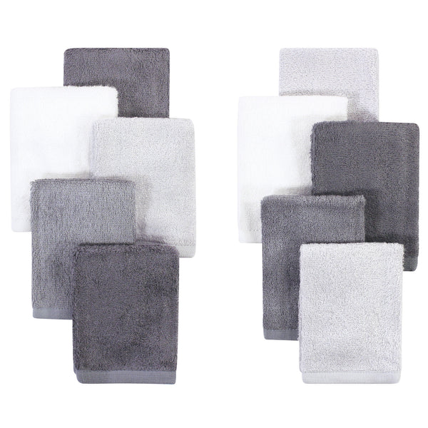 Little Treasure Rayon from Bamboo Luxurious Washcloths, Gray Charcoal