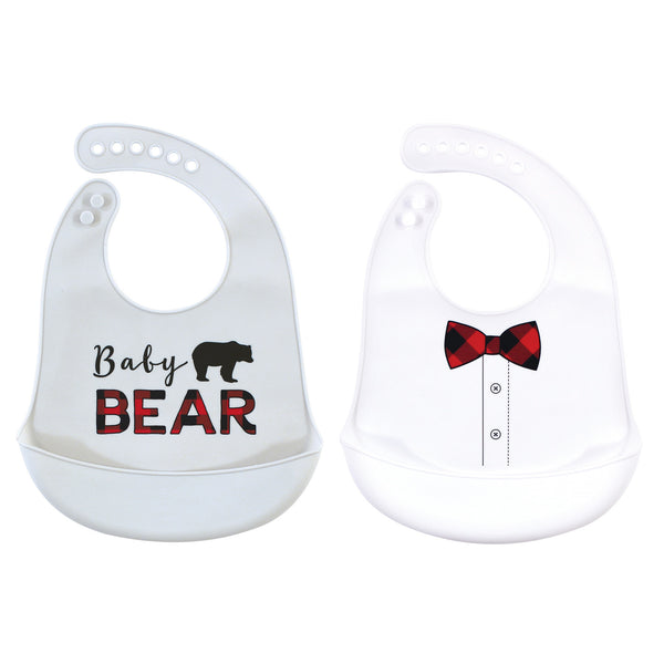 Little Treasure Silicone Bibs, Baby Bear
