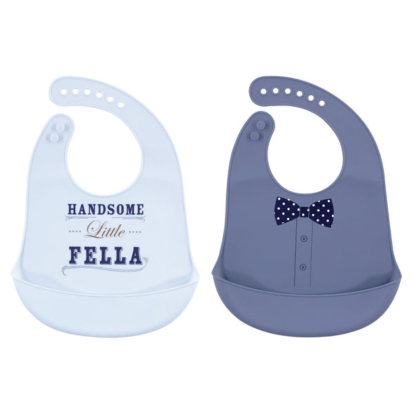 Little Treasure Silicone Bibs, Handsome Fella