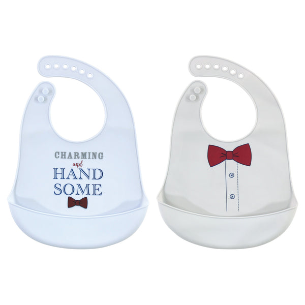 Little Treasure Silicone Bibs, Charming Handsome