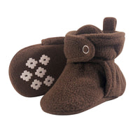 Little Treasure Cozy Fleece Booties, Brown