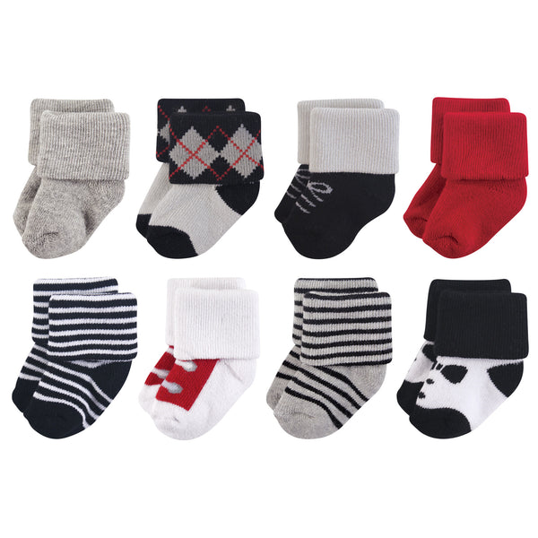 Little Treasure Newborn Socks, Tuxedo
