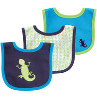 Yoga Sprout Cotton Bibs, Lizard