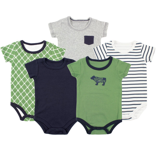 Yoga Sprout Cotton Bodysuits, Bear