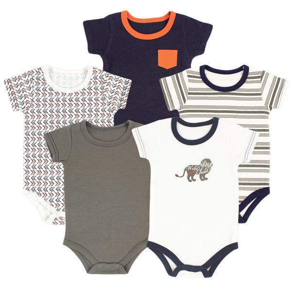 Yoga Sprout Cotton Bodysuits, Lion