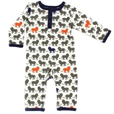 Yoga Sprout Cotton Coveralls, Lion