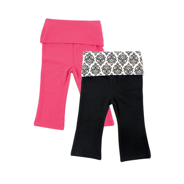 Yoga Sprout Cotton Pants, Damask