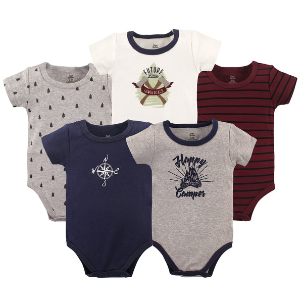 Yoga Sprout Cotton Bodysuits, Happy Camper