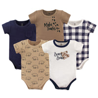 Yoga Sprout Cotton Bodysuits, Beary Brave