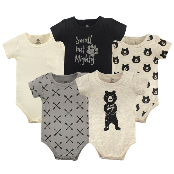 Yoga Sprout Cotton Bodysuits, Bear Hugs Short-Sleeve