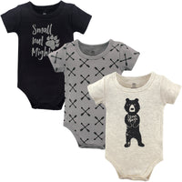 Yoga Sprout Cotton Bodysuits, Bear Hugs 3-Pack
