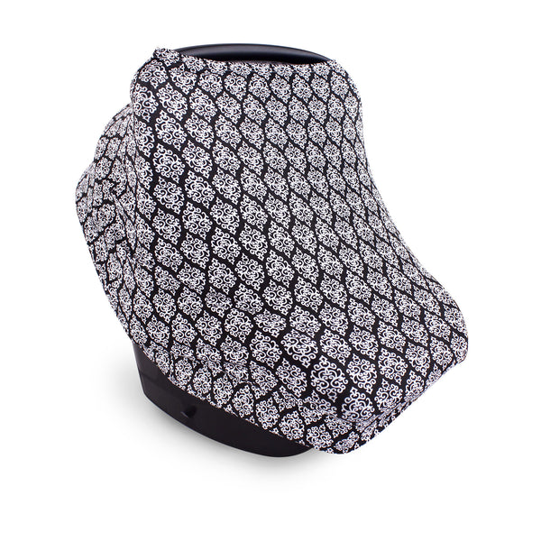 Yoga Sprout Multi-use Car Seat Canopy, Damask