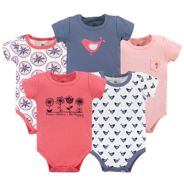 Yoga Sprout Cotton Bodysuits, Bloom