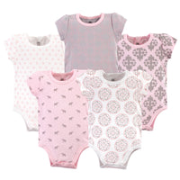 Yoga Sprout Cotton Bodysuits, Boho Elephant