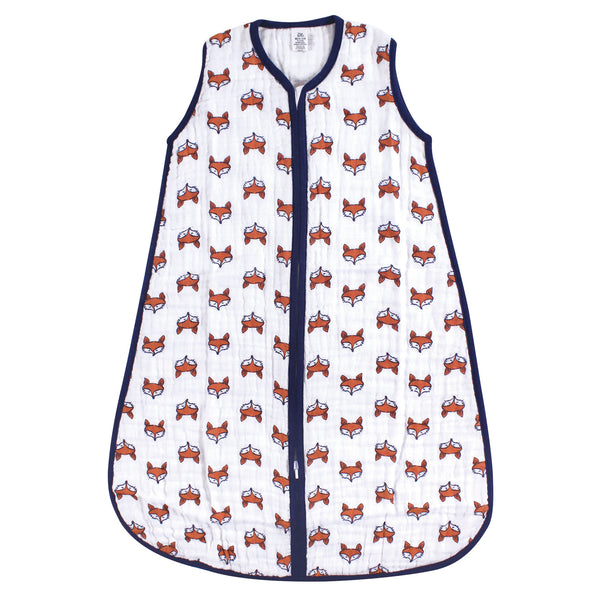 Yoga Sprout Sleeveless Muslin Cotton Sleeping Bag, Sack, Blanket, Clever Fox