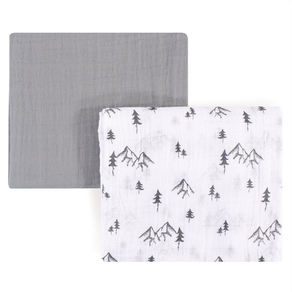 Yoga Sprout Cotton Muslin Swaddle Blankets, Mountain