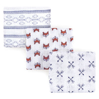 Yoga Sprout Cotton Muslin Swaddle Blankets, Fox