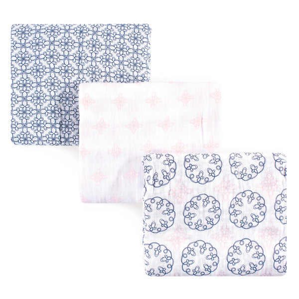 Yoga Sprout Cotton Muslin Swaddle Blankets, Whimsical