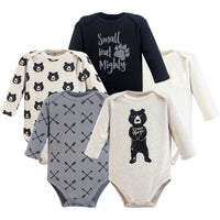 Yoga Sprout Cotton Bodysuits, Bear Hugs Long-Sleeve