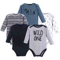 Yoga Sprout Cotton Bodysuits, Wild One Long-Sleeve