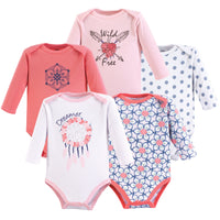 Yoga Sprout Cotton Bodysuits, Dream Catcher Long-Sleeve