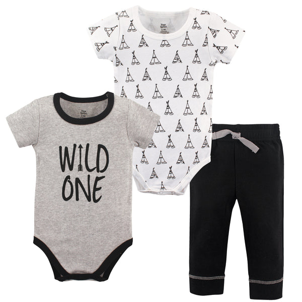 Yoga Sprout Cotton Layette Set, Wild One