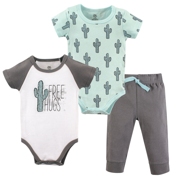 Yoga Sprout Cotton Layette Set, Free Hugs