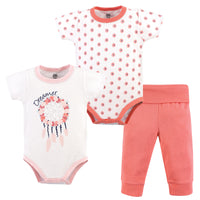 Yoga Sprout Cotton Layette Set, Dream Catcher