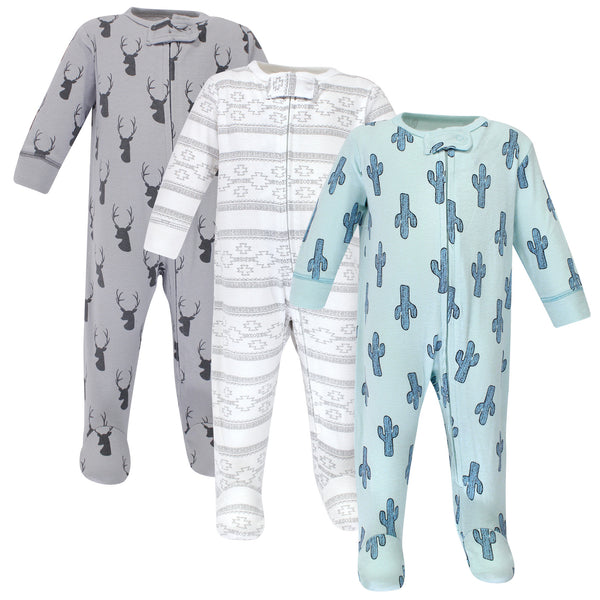Yoga Sprout Cottton Zipper Sleep and Play, Cactus