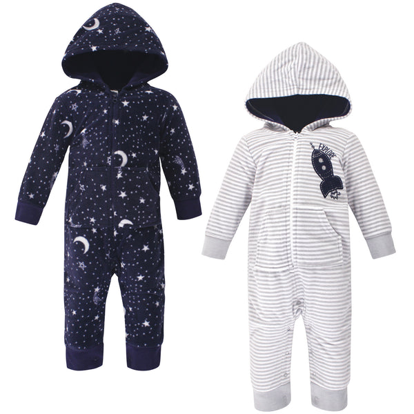 Yoga Sprout Hooded Fleece Jumpsuits, Spaceship Baby
