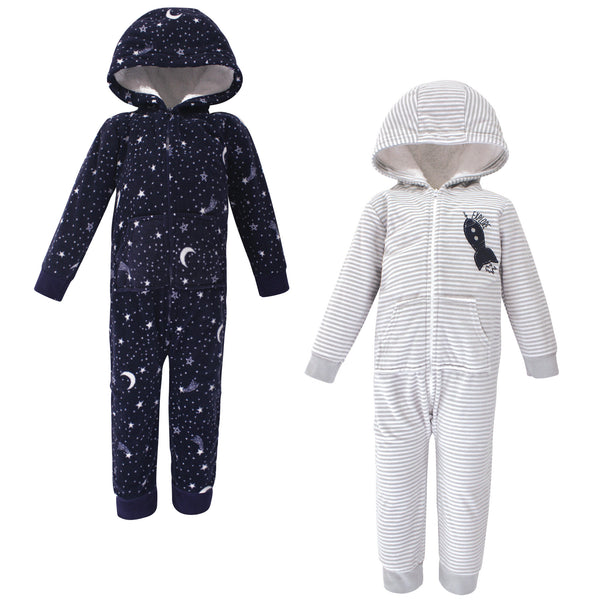 Yoga Sprout Hooded Fleece Jumpsuits, Spaceship Toddler