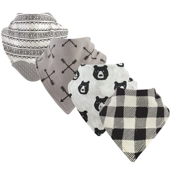 Yoga Sprout Cotton Bandana Bibs, Bear Hugs
