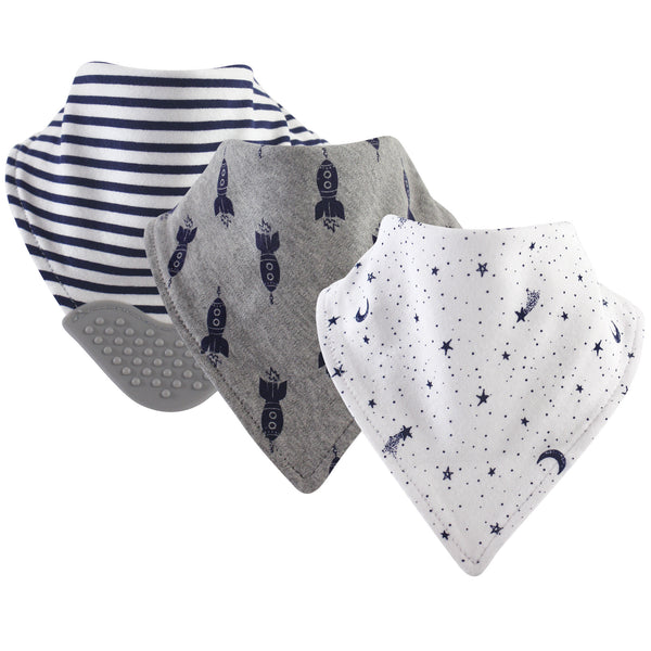Yoga Sprout Cotton Bandana Bibs, Moon 3-Pack