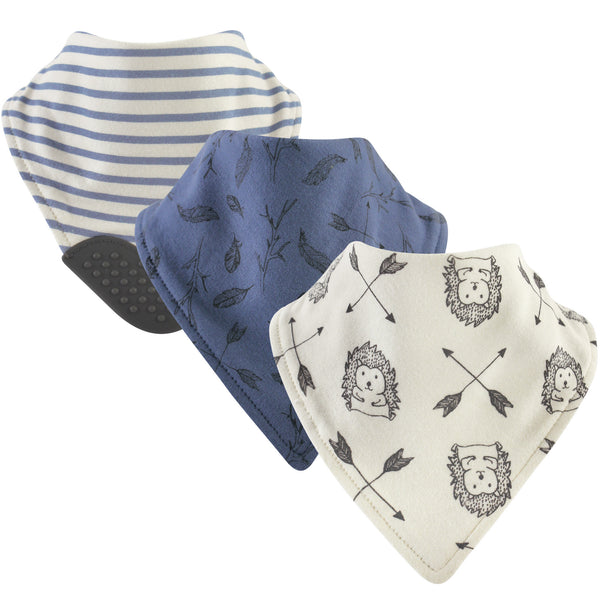 Yoga Sprout Cotton Bandana Bibs, Wild Woodland