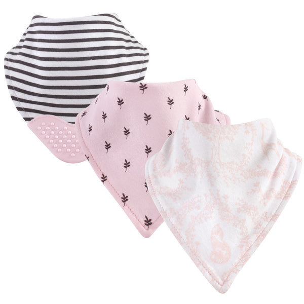 Yoga Sprout Cotton Bandana Bibs, Lace Garden