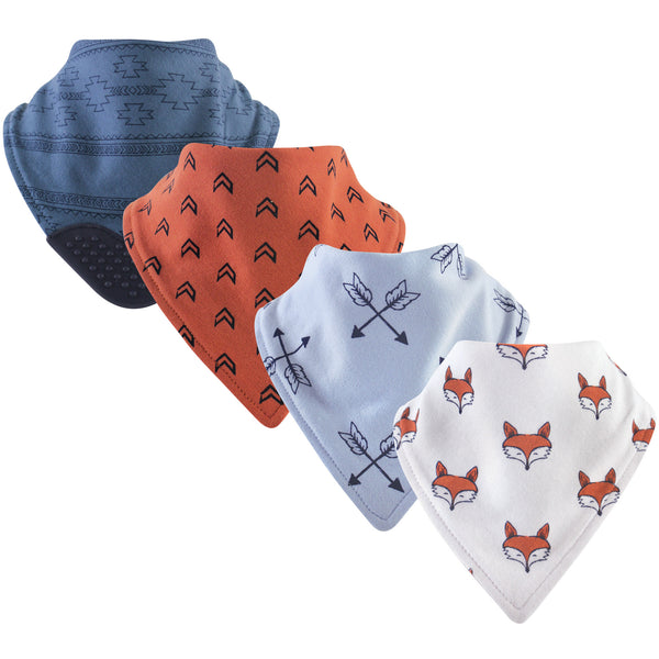 Yoga Sprout Cotton Bandana Bibs, Clever Fox