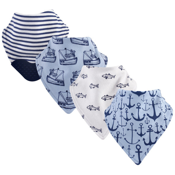 Yoga Sprout Cotton Bandana Bibs, Anchor
