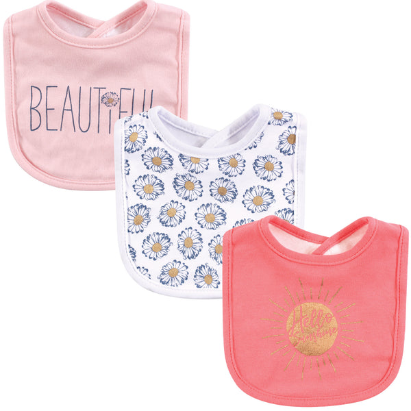 Yoga Sprout Cotton Bandana Bibs, Hello Sunshine