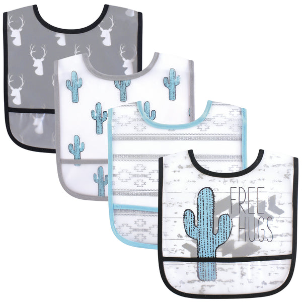 Yoga Sprout Waterproof PEVA Bibs, Free Hugs
