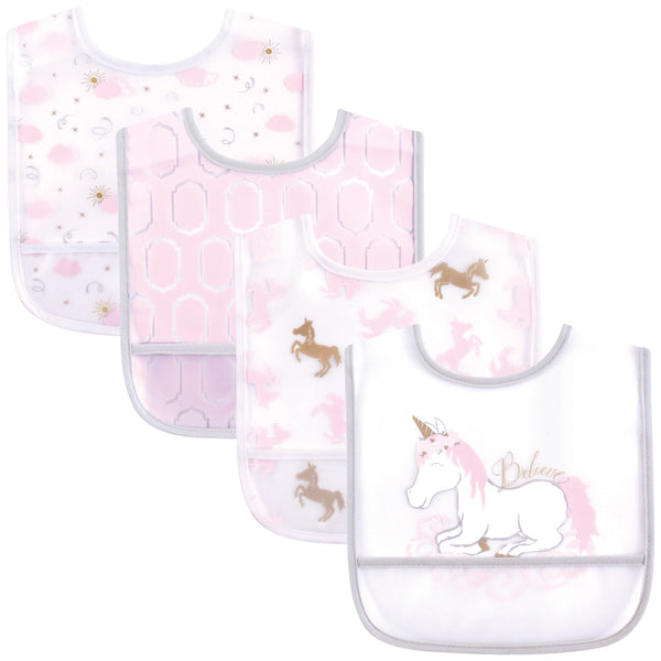 Yoga Sprout Waterproof PEVA Bibs, Unicorn