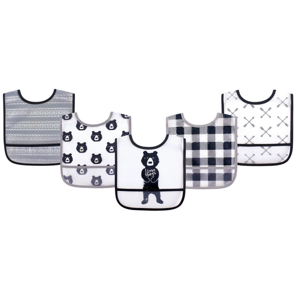 Yoga Sprout Waterproof PEVA Bibs, Bear Hugs