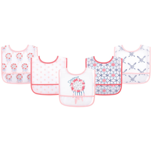 Yoga Sprout Waterproof PEVA Bibs, Dream Catcher