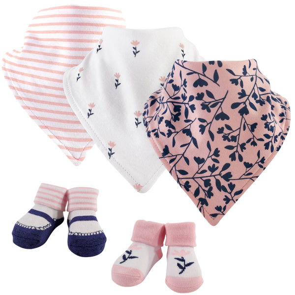Yoga Sprout Cotton Bandana Bibs and Socks, Fresh