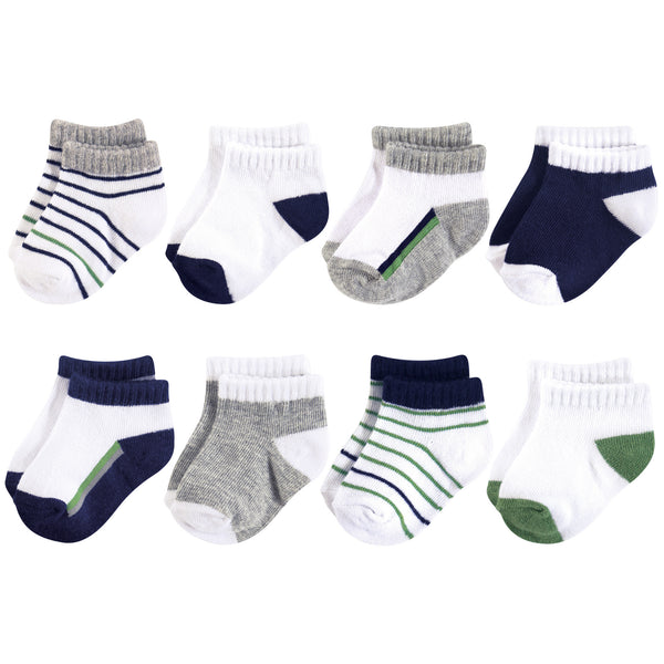 Yoga Sprout Socks, Olive Navy