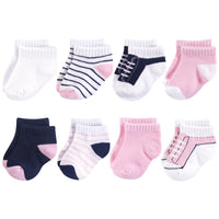 Yoga Sprout Socks, Light Pink Navy