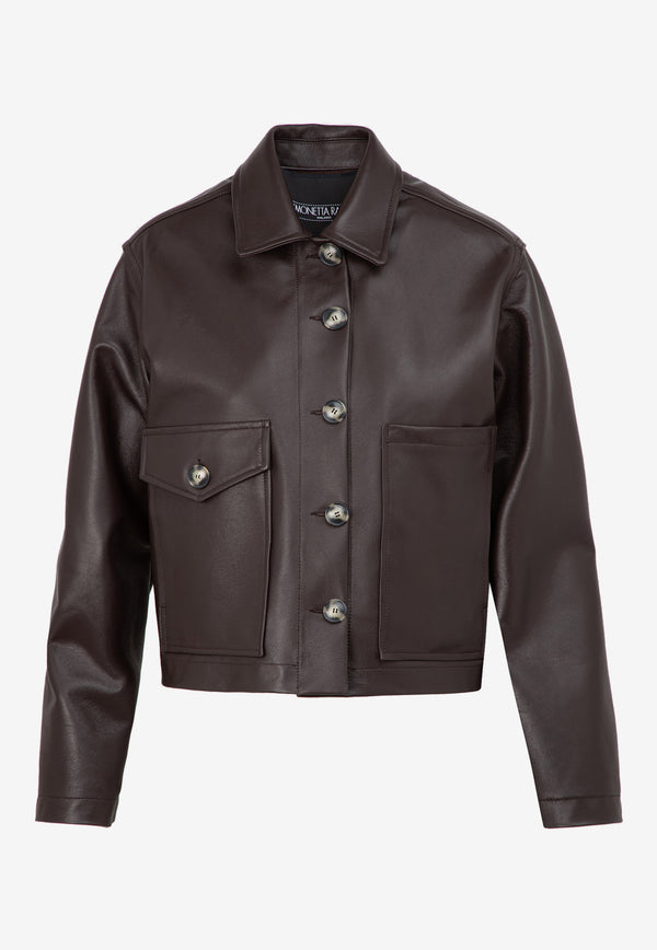Jane Short Leather Jacket