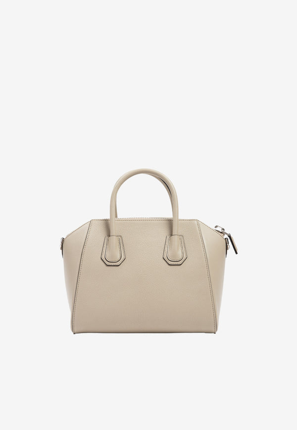 Givenchy Small Antigona Tote Bag in Grained Calfskin Beige BB05117012-250 BEIGE