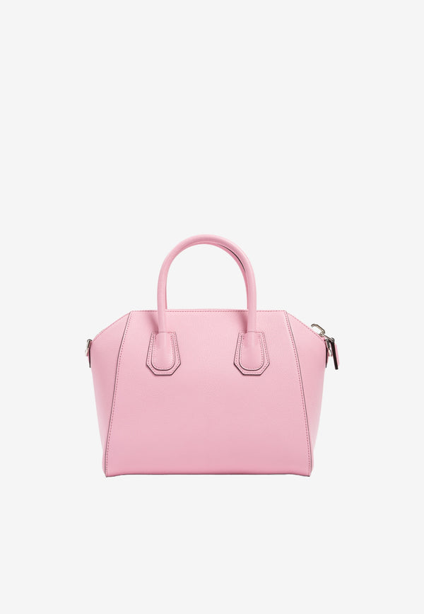 Givenchy Small Antigona Tote Bag in Grained Calfskin Pink BB05117012-661 BABY PINK