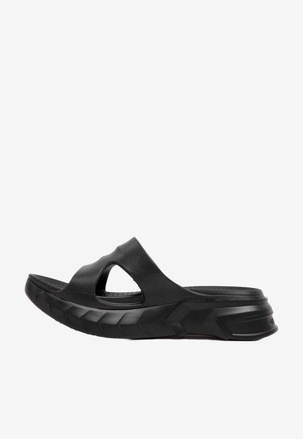Givenchy Marshmallow Rubber Flat Sandals Black BE305AE0Y9-001 BLACK