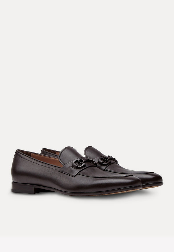 Reno Calf Leather Gancini Loafers